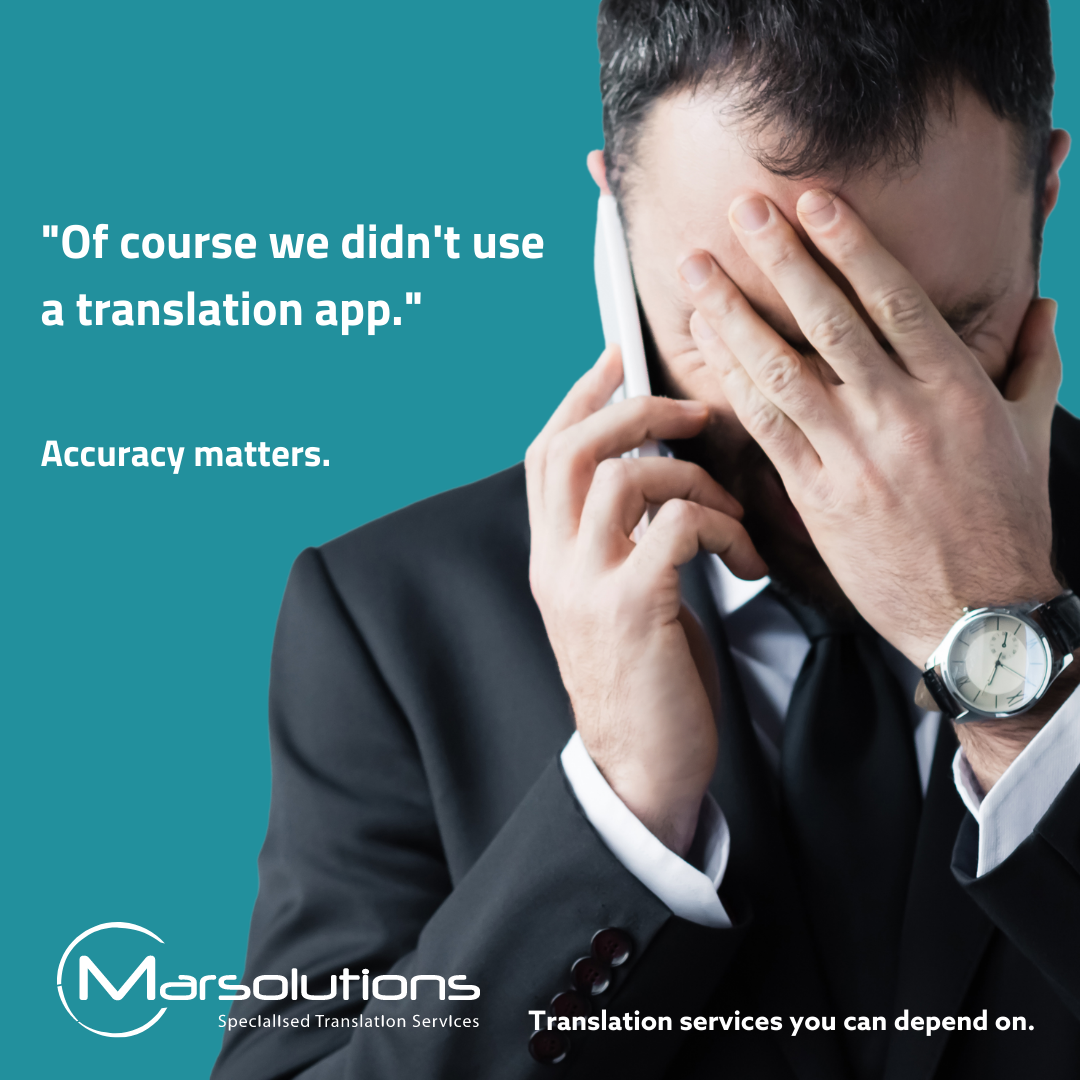 The importance of translation accuracy
