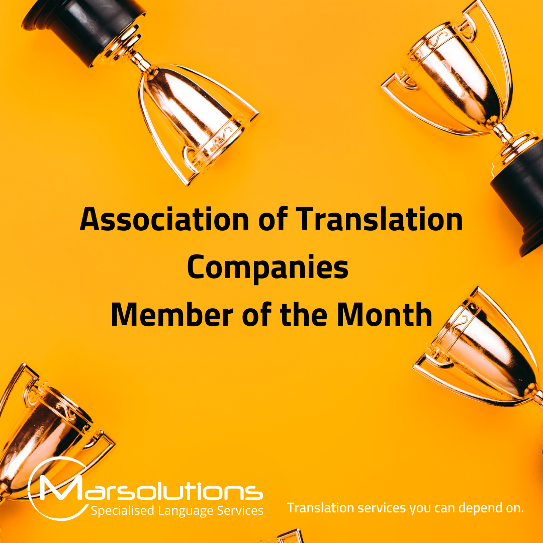 Marsolutions wins an award for being the ATC's member of the month
