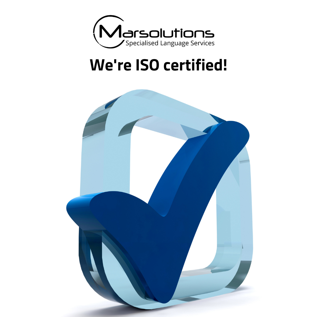 ISO Certified Translation Services